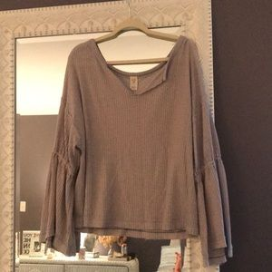 We the free dahlia bell sleeve thermal top